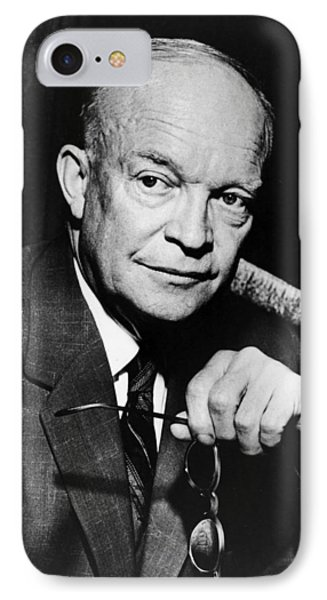 IPhone Case featuring the photograph Dwight D Eisenhower - President Of The United States Of America by International  Images