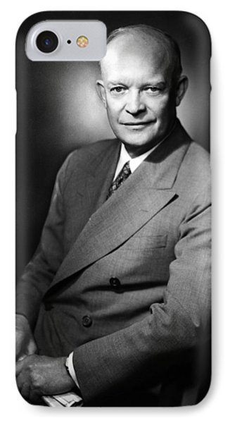 IPhone Case featuring the photograph Dwight Eisenhower - President Of The United States Of America by International  Images