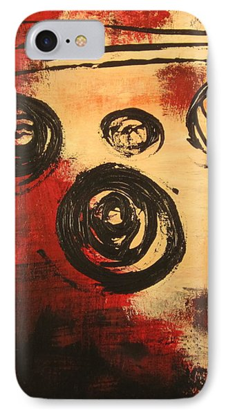 IPhone Case featuring the painting Dynamic Red 2 by Kathy Sheeran