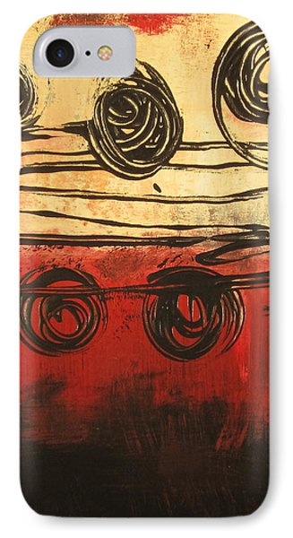 IPhone Case featuring the painting Dynamic Red 3 by Kathy Sheeran