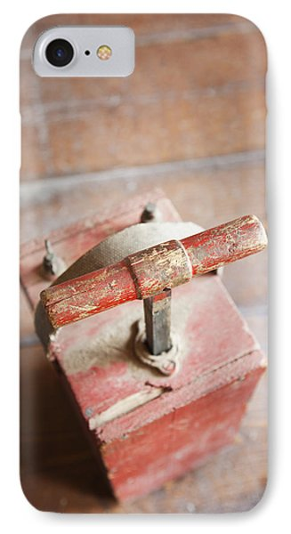 Dynamite Detonator Box. Plunger Handle Phone Case by Bryan Mullennix