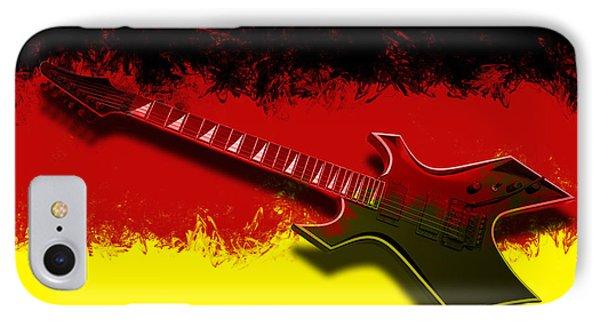 E-guitar - German Rock II IPhone Case by Melanie Viola