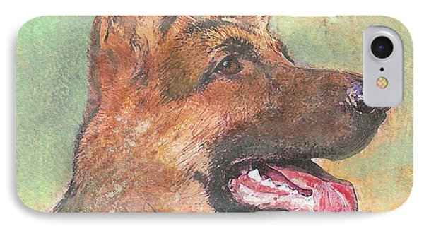 IPhone Case featuring the painting Eager - Time For Dinner   by Richard James Digance