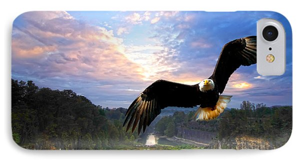 IPhone Case featuring the photograph Eagle At Paint Creek Dam by Randall Branham