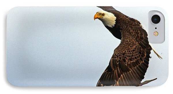 IPhone Case featuring the photograph Eagle Flight-wing Power by Larry Nieland
