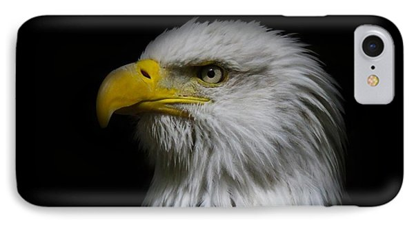 IPhone Case featuring the photograph Eagle Head by Steve McKinzie