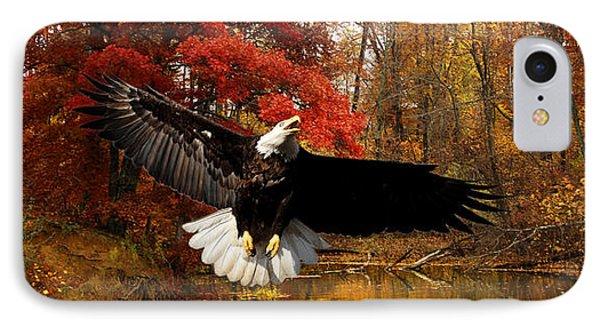 IPhone Case featuring the photograph Eagle In Autumn Splendor by Randall Branham
