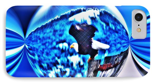 Eagle In Blue Phone Case by Don Mann