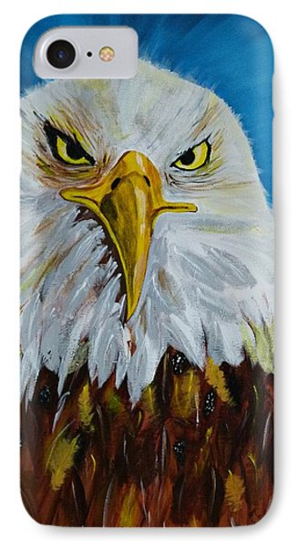 IPhone Case featuring the painting Eagle by Ismeta Gruenwald