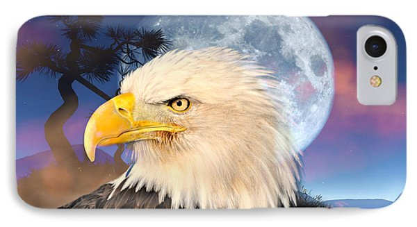 Eagle Moon Phone Case by Marty Koch
