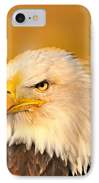 Eagle On Guard Phone Case by Marty Koch