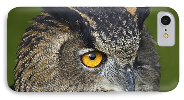 Eagle Owl 2 Phone Case by Clare Bambers