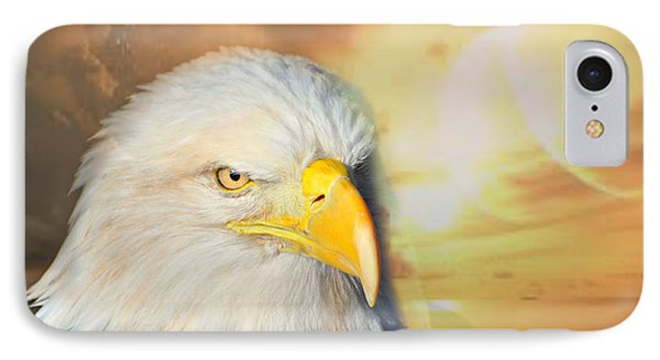 Eagle Sun Phone Case by Marty Koch