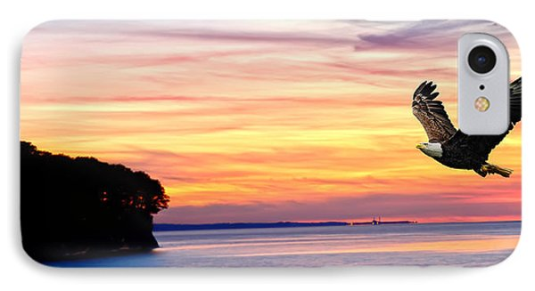 IPhone Case featuring the photograph Eagle Sunrise by Randall Branham