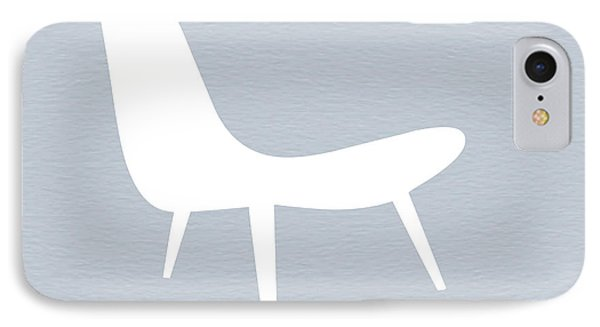Eames White Chair IPhone Case by Naxart Studio