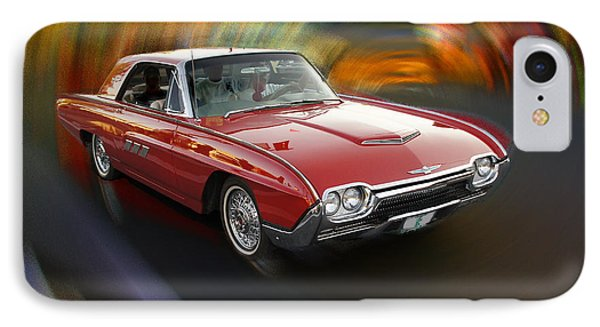 Early 60s Red Thunderbird IPhone Case by Mick Anderson
