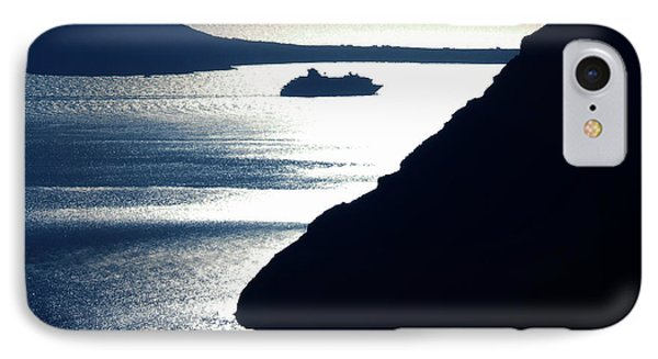 IPhone Case featuring the photograph Early Night Santorini Island Greece by Colette V Hera  Guggenheim