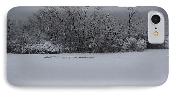 Early Spring Snow Fall IPhone Case by Cedric Hampton