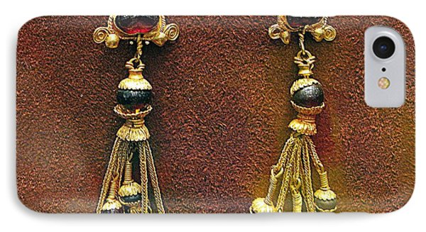 Earrings With Garnets Phone Case by Andonis Katanos