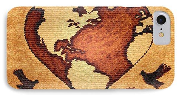 Earth Day Gaia Celebration Digital Art IPhone Case by Georgeta  Blanaru