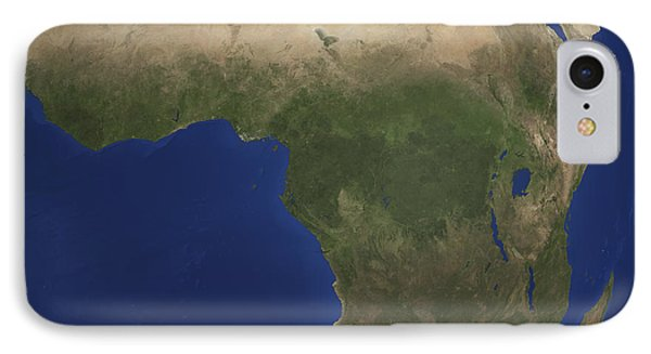 Earth Showing Landcover Over Africa Phone Case by Stocktrek Images