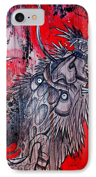 IPhone Case featuring the painting Earth Spirit by Sandro Ramani