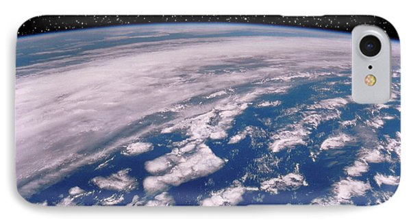 Earth With Starfield Phone Case by NASA / Science Source