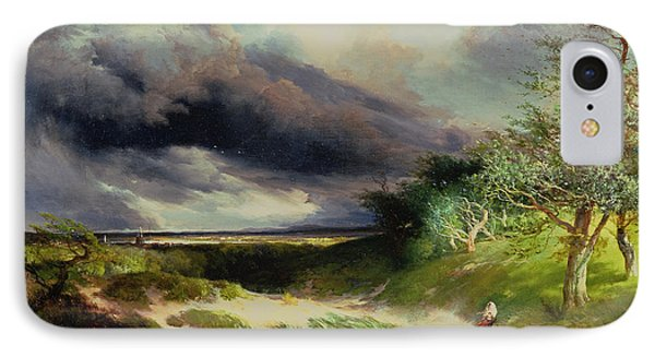 East Hamptonlong Island Sand Dunes Phone Case by Thomas Moran