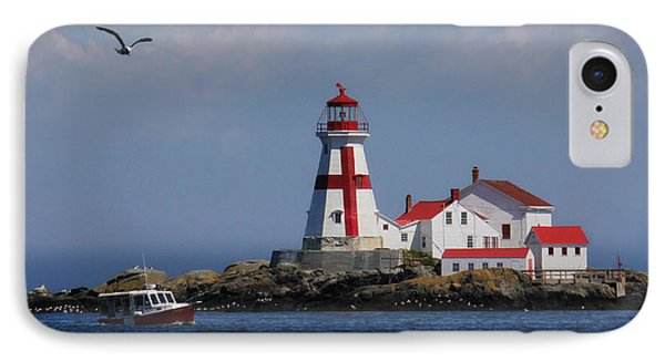 East Quoddy Head Lighthouse IPhone Case by Lori Deiter