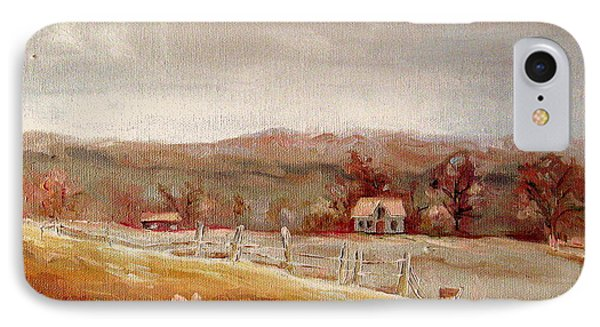 Eastern Townships Quebec Painting Phone Case by Carole Spandau