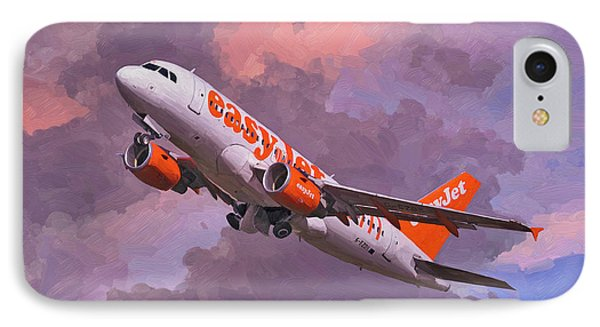 easyJet Airbus A319 take off IPhone Case by Nop Briex