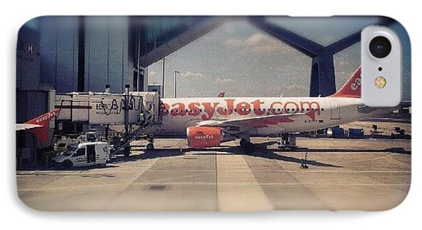 #easyjet #gatwick #airplane #airport IPhone Case by Abdelrahman Alawwad