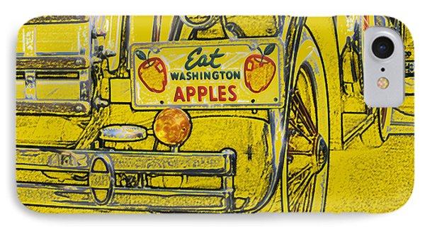 IPhone Case featuring the digital art Eat Washington Apples by Anne Mott
