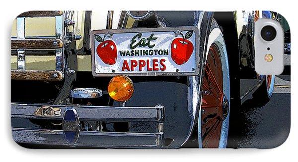IPhone Case featuring the digital art Eat Washington Apples2 by Anne Mott