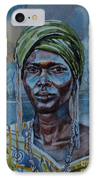 Ebony Girl Phone Case by Mohamed Fadul
