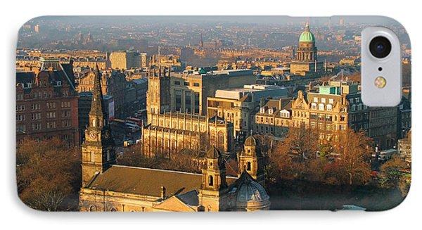 Edinburgh On A Winter's Day Phone Case by Christine Till