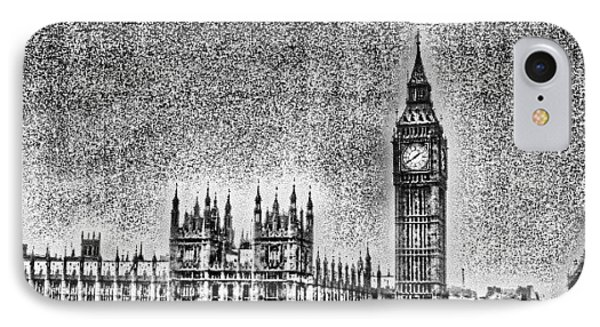 Edit Of The Day, #editeoftheday #london IPhone Case by Abdelrahman Alawwad