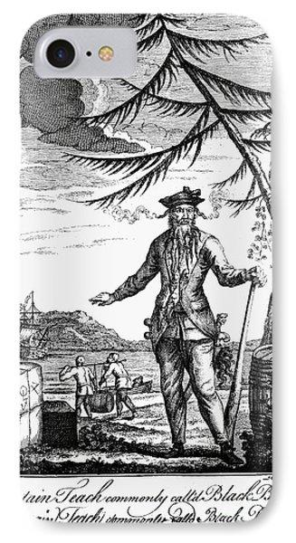 Edward Teach (?-1718) Phone Case by Granger