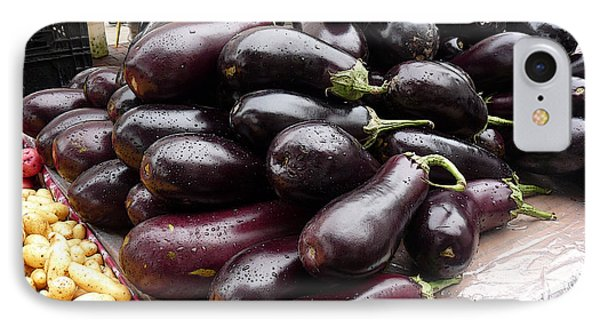 Eggplants And Fingerling Potatoes Phone Case by David Bearden