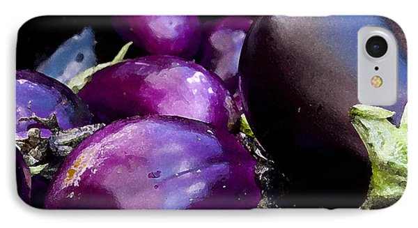 IPhone Case featuring the photograph Eggplants by Michael Friedman