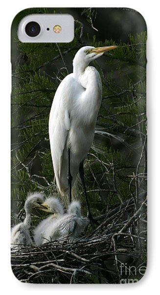 IPhone Case featuring the photograph Egret - Proud Mother by Luana K Perez