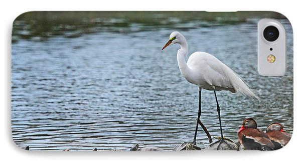 Egret Bird - Supporting Friends IPhone Case