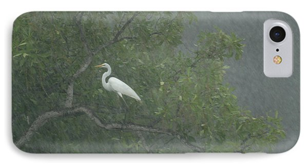 Egret In The Monsoons Phone Case by Bob Christopher