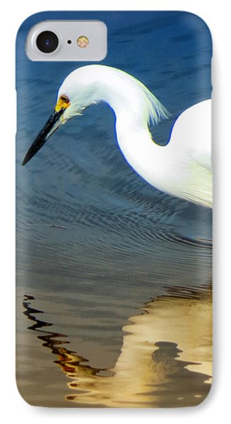 Egret Reflected Phone Case by Diane Wood