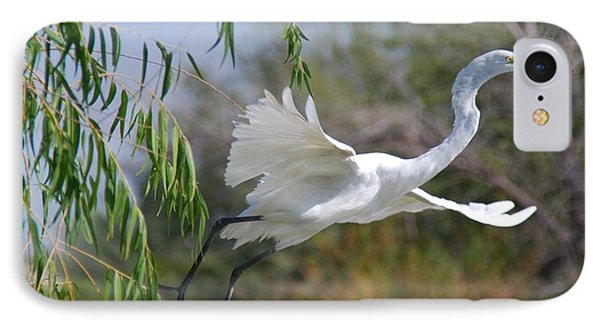 IPhone Case featuring the photograph Egret's Flight by Tam Ryan