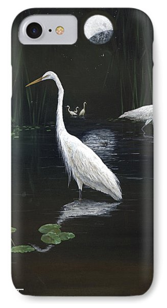 Egrets In The Moonlight Phone Case by Kevin Brant