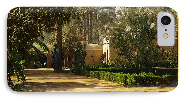 Egyptian Courtyard In The Late Afternoon Phone Case by Mary Machare