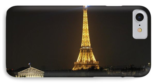 IPhone Case featuring the photograph Eiffel Tower At Night by Jennifer Ancker