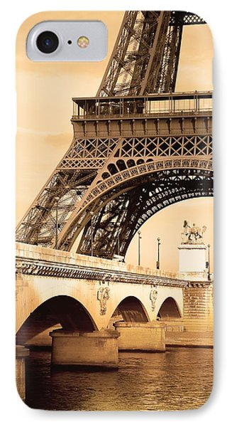 Eiffel Tower, Paris, France Phone Case by Carson Ganci
