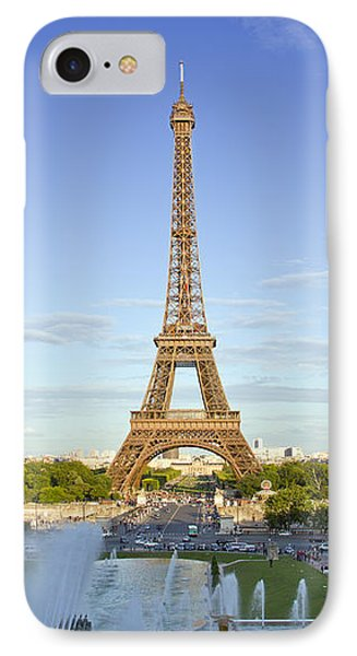 Eiffel Tower With Fontaines Phone Case by Melanie Viola